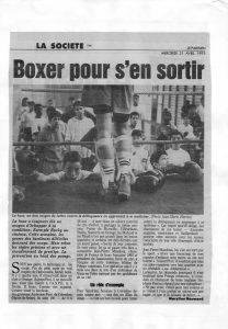 Boxer pour s'en sortir
