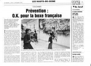 Prévention: O.K pour la boxe française