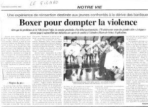 Boxer pour dompter la violence